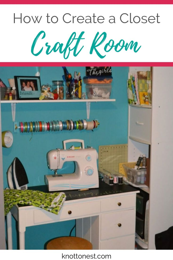 Creating a closet craft room