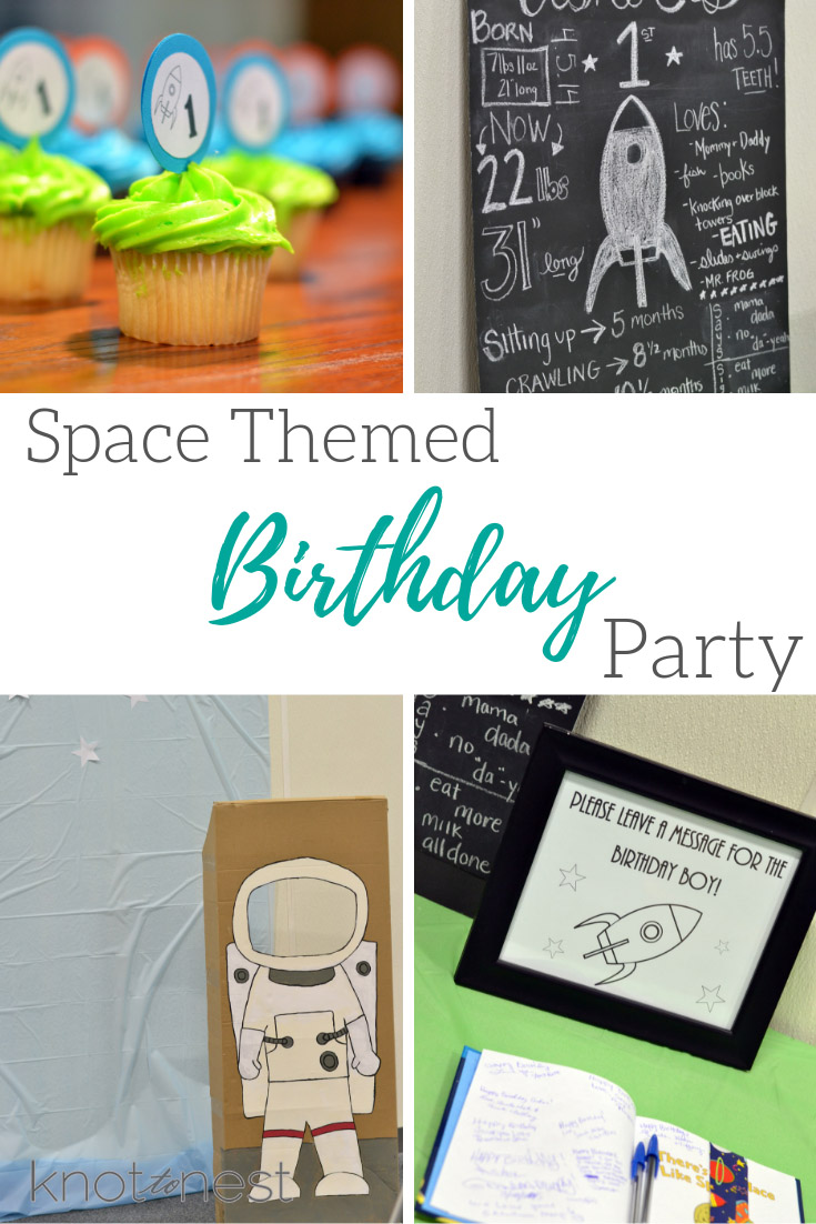 Space themed birthday party