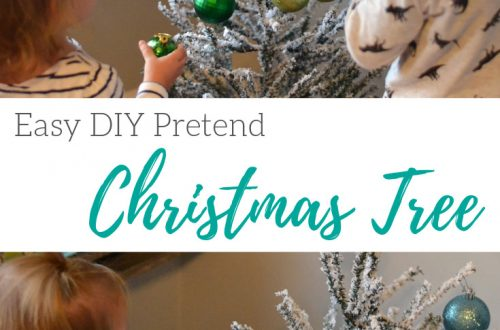 Easy DIY pretend Christmas Tree