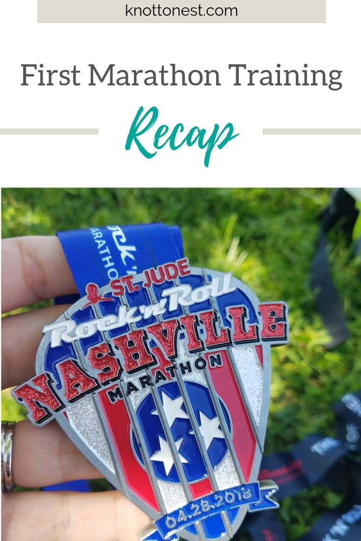 Marathon Training Recap for first time marathon runner