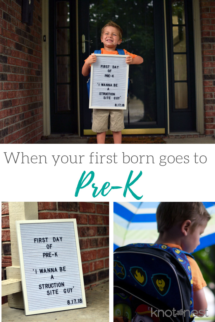 When your first born goes to pre-k