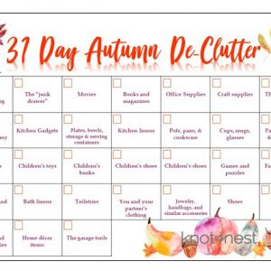 31 Day Autumn De-clutter Plan