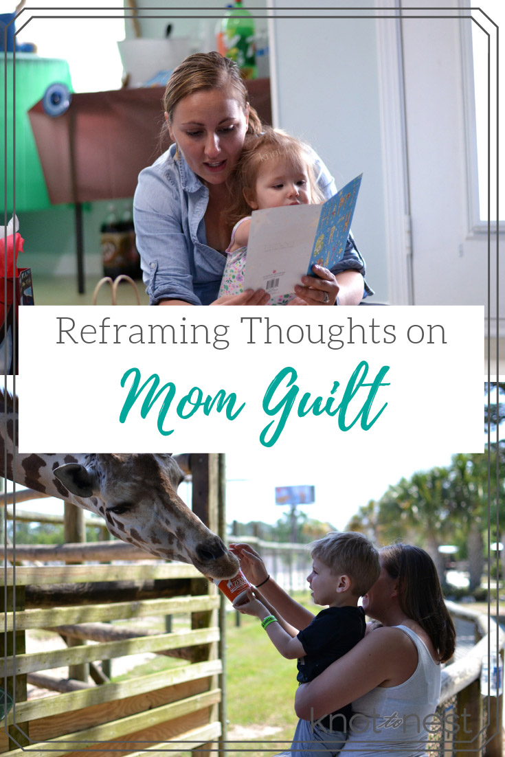 Don't let mom guilt ruin your motherhood journey. Learn how to re frame those thoughts and move forward