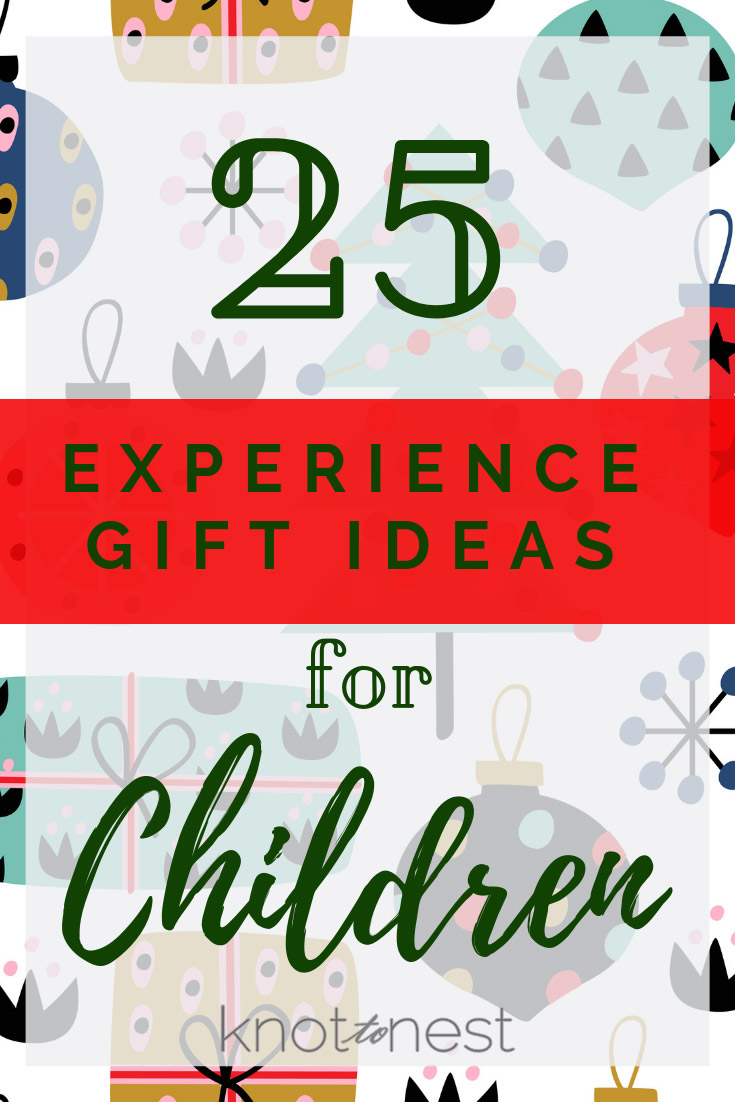 Experience gift ideas for children