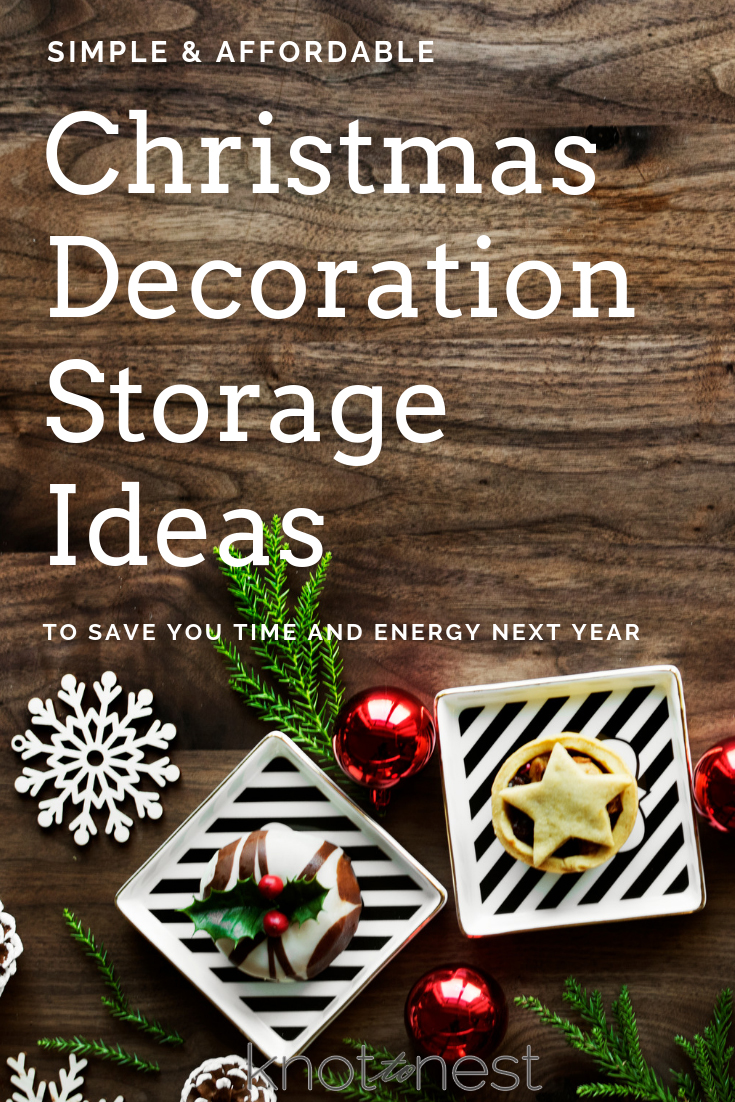 Simple and affordable Christmas Decor Storage