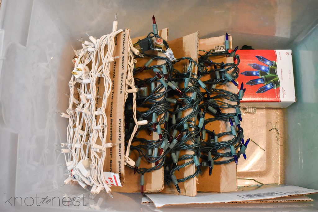 How to store Christmas light strands