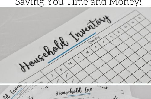 Household inventory sheets save your time and money by making shopping trips simple and quick. Buy only what you need when you need it. Free printable. Great for household binders. Household organization tool.